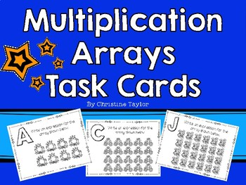 Multiplication Arrays Task Cards