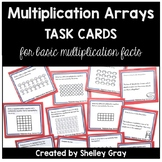 Multiplication Arrays Task Cards: Arrays for Basic Multipl