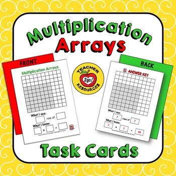 MULTIPLICATION FLASH CARDS - ARRAYS TASK CARDS