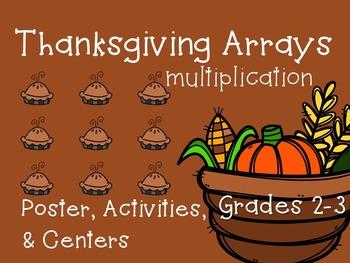 Multiplication Arrays {Thanksgiving Activities & Centers}