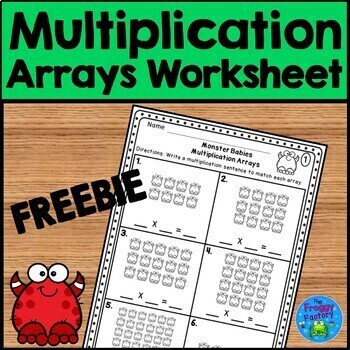 multiplication arrays worksheets teaching resources  teachers pay  multiplication arrays worksheet  freebie multiplication arrays worksheet   freebie