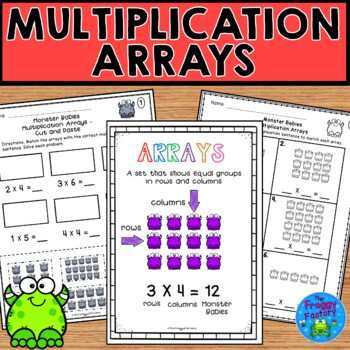 Multiplication Arrays Worksheets No Prep Printables By The