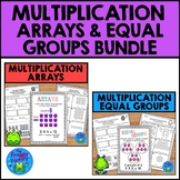 Multiplication Arrays and Equal Groups Worksheets Bundle