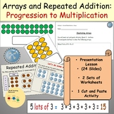 Multiplication Arrays and Repeated Addition Presentation Activities Worksheets