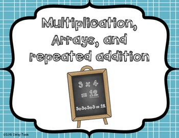 Multiplication, Arrays, and Repeated addition (Spanish version included)