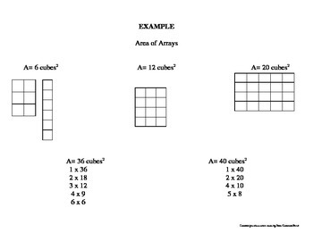 Multiplication Arrays for Area