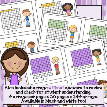 Multiplication Arrays to 12x12