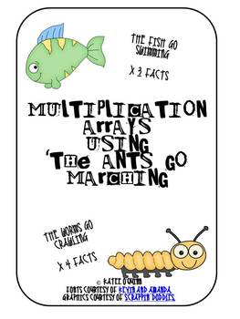 Multiplication Arrays using 'The Ants go Marching' x 3 and x 4