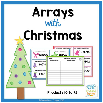 Multiplication Arrays with Christmas and Repeated Addition