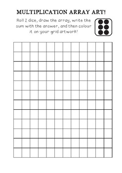 Multiplication Art Game- Drawing Arrays & Writing Number Sentences