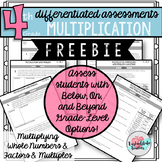 4th Grade Multiplication and Multiply Whole Numbers Concepts