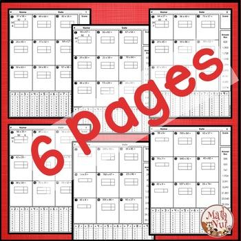 "Multiplication Assessment ""Area Model Multiplication Practice"""