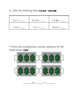 Multiplication Assessment/Review Packet