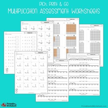 Multiplication Assessment Worksheets