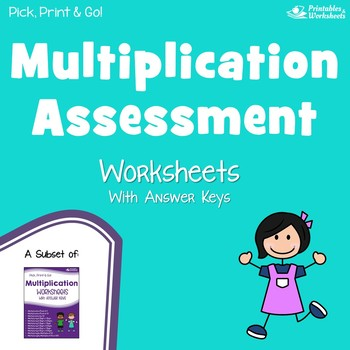 Mixed Multiplication Assessment Worksheets by Printables and Worksheets