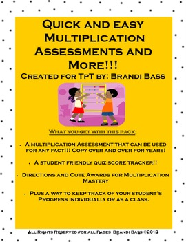 Multiplication Assessment and Awards