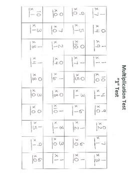 Multiplication Assessments 0-12