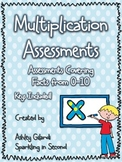 Multiplication Assessments, Timed Math Assessments, Facts 0-10