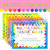 Multiplication Award - Multiplication Master Award - Colour me Confetti