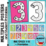 Multiplication BIG Posters   Multiples to 12   Plus Studen