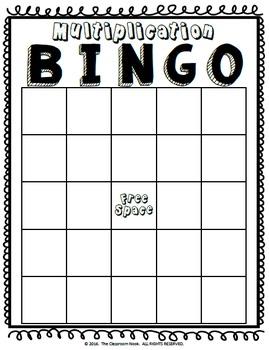 Multiplication BINGO {14 Create-Your-Own Games!}