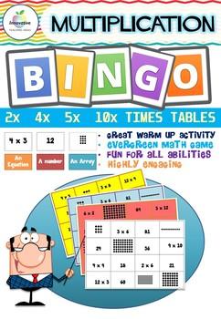Multiplication BINGO ( Factors 2, 4, 5, 10 )