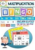 Multiplication BINGO  ( Factors 3, 6, 9, 12 )