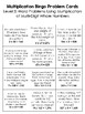 Multiplication BINGO Math Game for Intermediate Students - 3 Versions to Play!