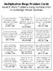 Multiplication BINGO Math Game for Intermediate Students -