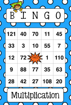 Multiplication BINGO Super Hero Theme