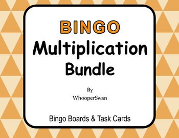 Multiplication - BINGO and Task Cards Bundle