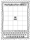 Multiplication BINGO boards