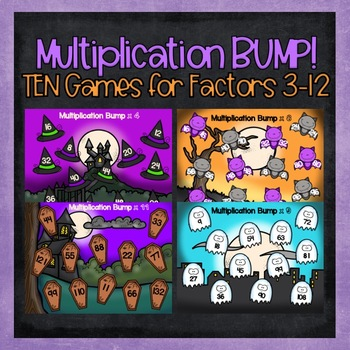 Multiplication BUMP for Factors 3 Through 12
