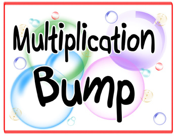 Multiplication BUMP Game - bubbles -