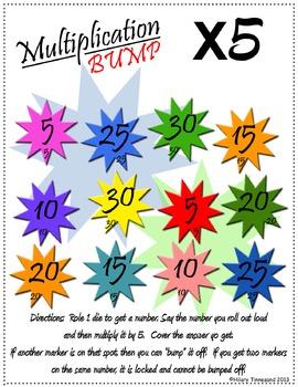 Multiplication BUMP Games - 5 versions