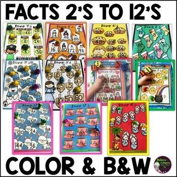 Multiplication BUMP Games BUNDLE (Holiday/Seasonal Themes)