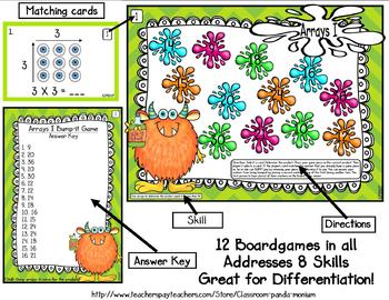 Multiplication BUMP-It Game Pack