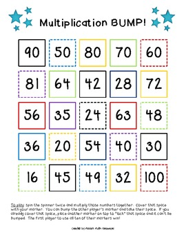 Multiplication BUMP! {Number Facts 4 -10}
