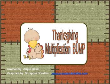 Multiplication BUMP Thanksgiving/Turkey Theme