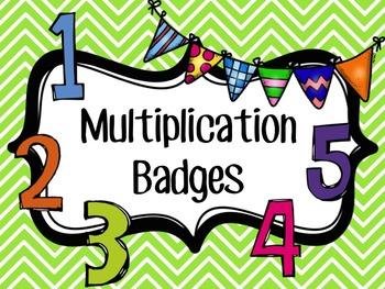 Multiplication Badges