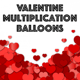 Valentine Multiplication Balloon Pop