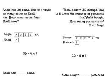 Multiplication Bar Model Problem Solving Booklet