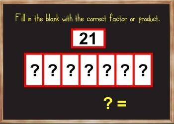 Multiplication Bar Models - BOOM Cards! (36 Cards) Visual Fact Fluency Practice!