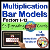Multiplication Bar Models - 36 Self-checking Boom Cards - Fact Fluency Practice!