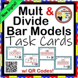 Multiplication Bar Models Task Cards - 28 Cards w/ QR Codes
