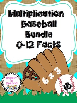 Multiplication Baseball Bundle 0-12 facts