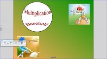 Multiplication Baseball Game for 2nd Grade