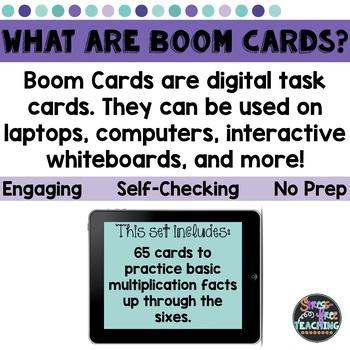 Multiplication Basic Fact Practice Set 1 - Boom Cards