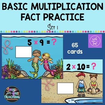Multiplication Basic Fact Practice Set 1 - Boom Cards by Stress-Free ...