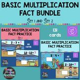 Multiplication Basic Fact Practice Bundle Set 1 & Set 2 -